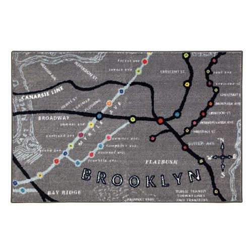 Mohawk® Home Brooklyn Map Rug - 30'' x 46''