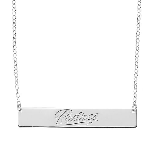 San Diego Padres Sterling Silver Bar Necklace