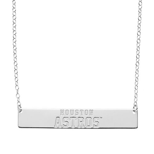 Houston Astros Sterling Silver Bar Necklace
