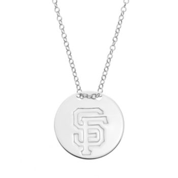 San Francisco Giants Sterling Silver Disc Pendant Necklace