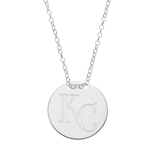Kansas City Royals Sterling Silver Disc Pendant Necklace