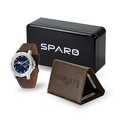 Men's Sparo New England Patriots Watch and Wallet Set