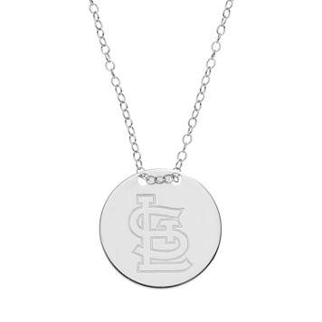 St. Louis Cardinals Sterling Silver Disc Pendant Necklace