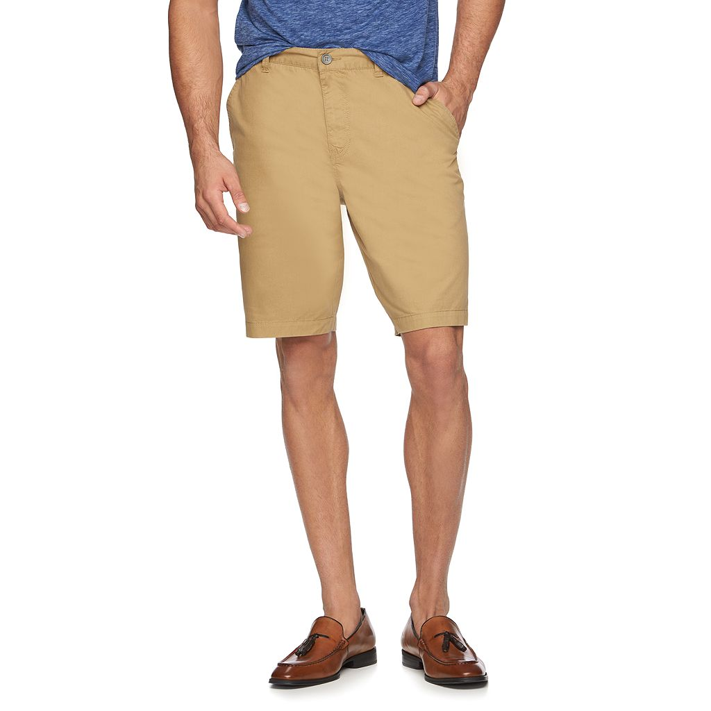 Men's Marc Anthony Slim-Fit Twill Flat-Front Shorts