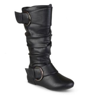 Journee Girls' Buckle Boots