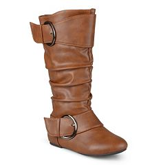Journee Girls' Buckle Boots