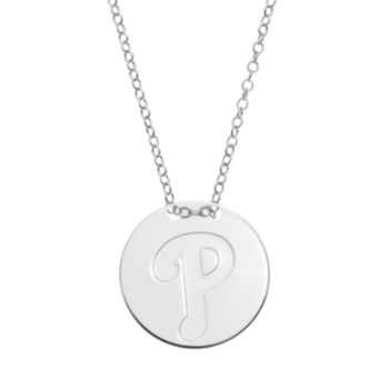 Philadelphia Phillies Sterling Silver Disc Pendant Necklace