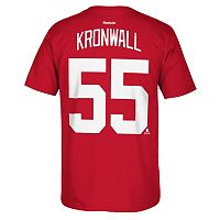 Men's Reebok Detroit Red Wings Niklas Kronwall Premier Tee