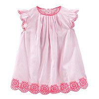 Baby Girl OshKosh B'gosh® Striped Embroidered Dress