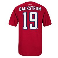 Men's Reebok Washington Capitals Nicklas Backstrom Premier Tee