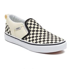 f6b22438eb Vans Asher Boys  Checkered Skate Shoes
