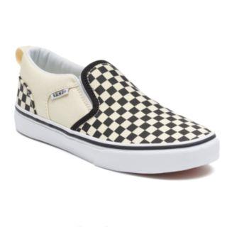 Vans Asher Boys' Checkered Skate Shoes