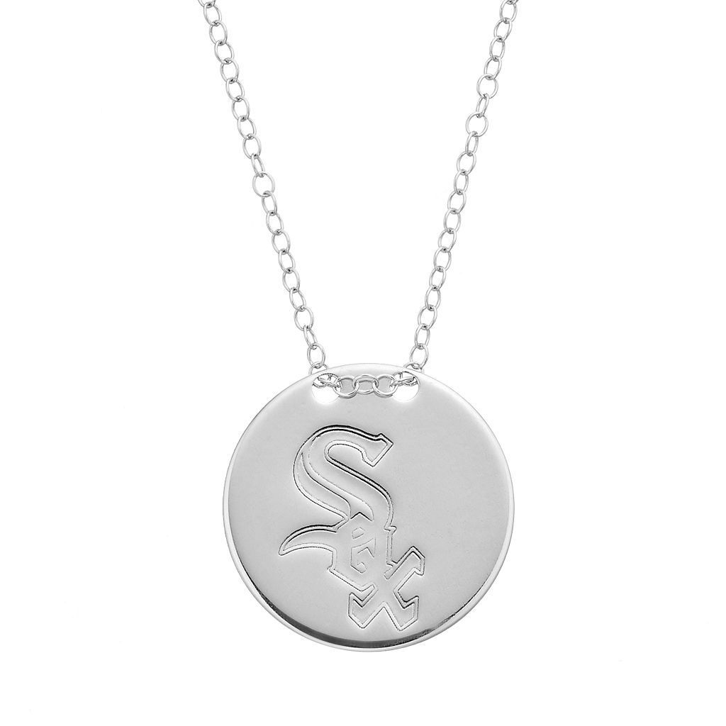 Chicago White Sox Sterling Silver Disc Pendant Necklace