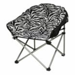 Urban Shop Faux-Fur Zebra Club Chair