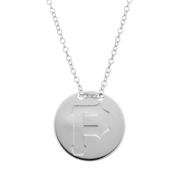 Pittsburgh Pirates Sterling Silver Disc Pendant Necklace