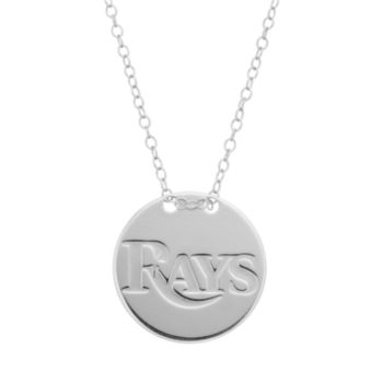 Tampa Bay Rays Sterling Silver Disc Pendant Necklace
