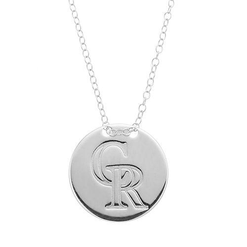 Colorado Rockies Sterling Silver Disc Pendant Necklace