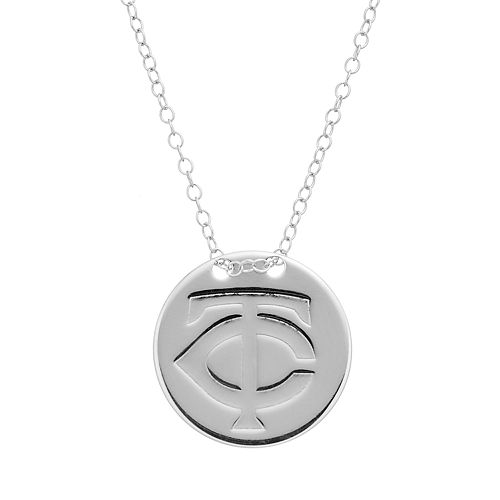 Minnesota Twins Sterling Silver Disc Pendant Necklace