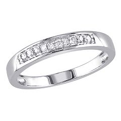 Stella Grace Sterling Silver 1/10 Carat T.W. Diamond Wedding Ring