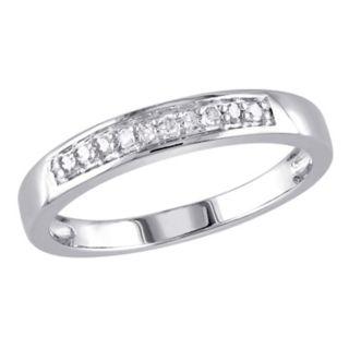 Stella Grace Sterling Silver 1/10 Carat T.W. Diamond Wedding Ring