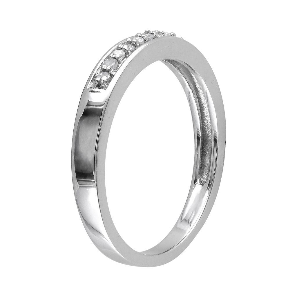 Sterling Silver 1/10 Carat T.W. Diamond Wedding Ring