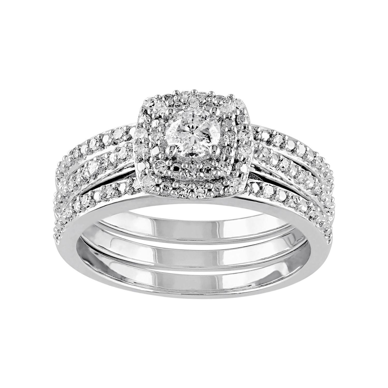 Sterling Silver Diamond Bridal Sets Rings Jewelry Kohls