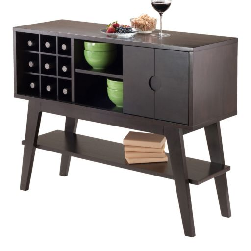 Winsome Monty Wine Console Table
