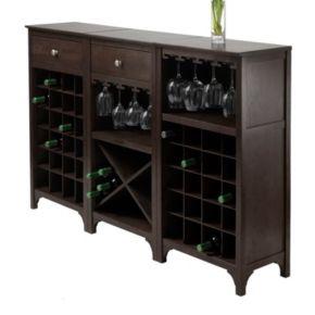 Winsome Ancona 3-Piece Wine Cabinet Modular Set