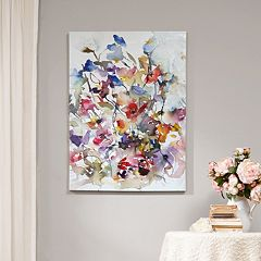 Madison Park Gel Coat Vibrant Garden Canvas Wall Art