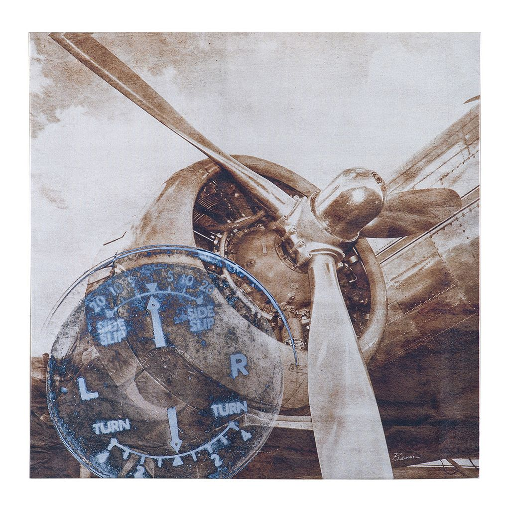 INK+IVY Metallic Ink History of Aviation II Canvas Wall Art