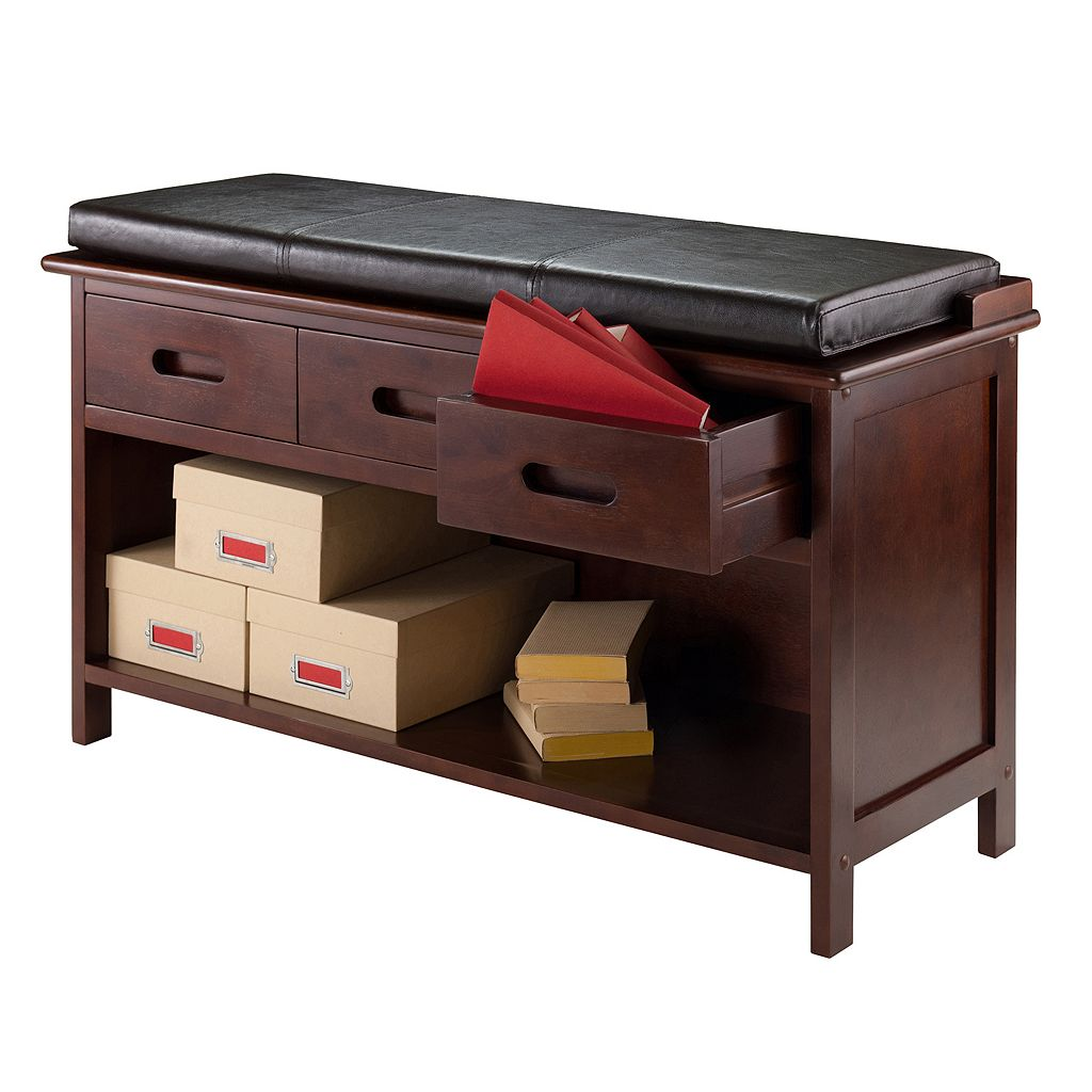 Winsome Adriana 2-Piece Storage Bench Set