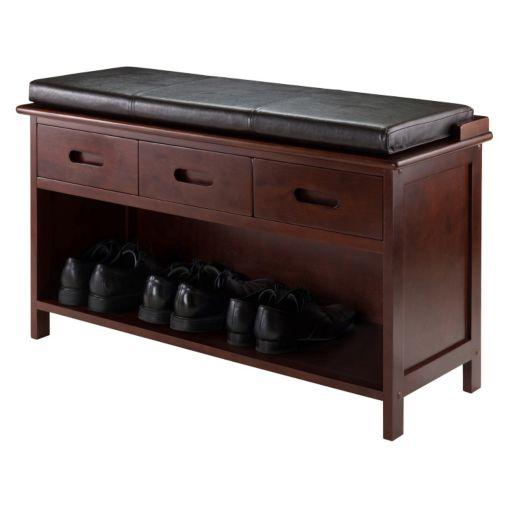 Winsome Adriana 2-Piece Storage Bench Set