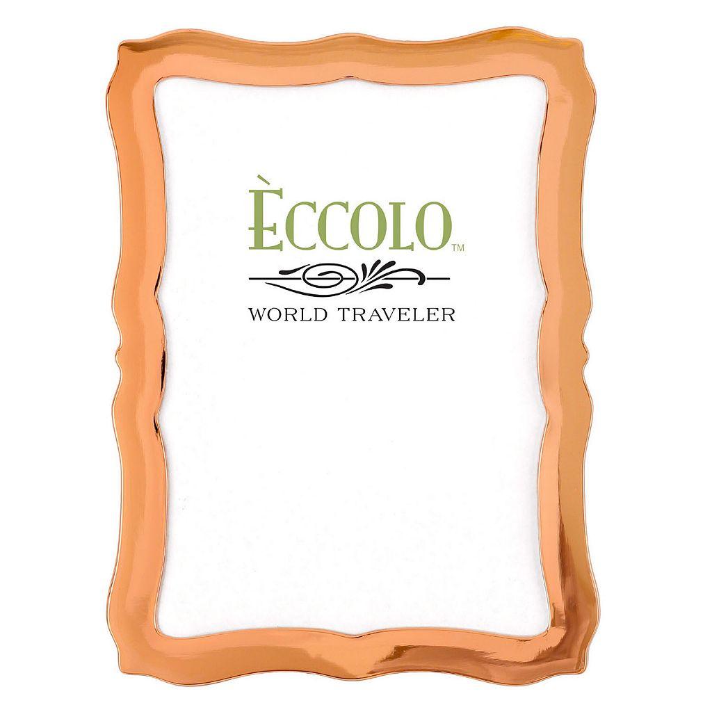 World Traveler Scalloped Copper Frame