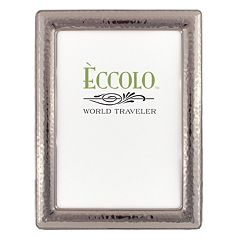 World Traveler Narrow Hammered Dark Silver Frame