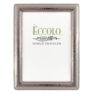 World Traveler Narrow Hammered Dark Silver Frame