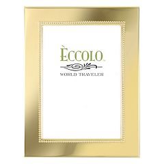 World Traveler Gold Smooth Beaded Frame