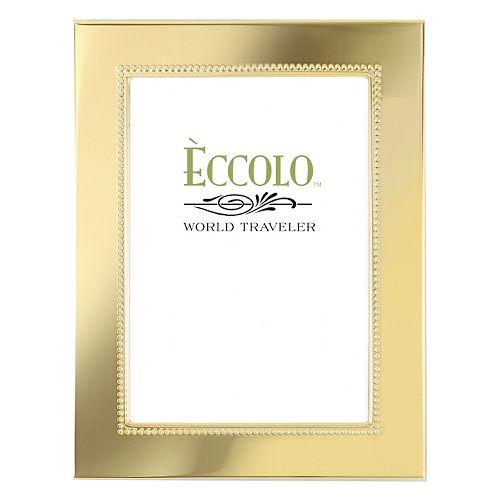 World Traveler Gold Smooth Beaded Frame