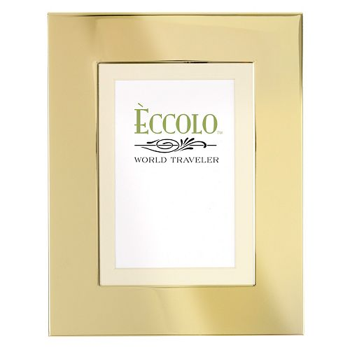 World Traveler Wide Border Gold Frame
