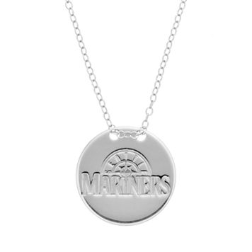 Seattle Mariners Sterling Silver Disc Pendant Necklace