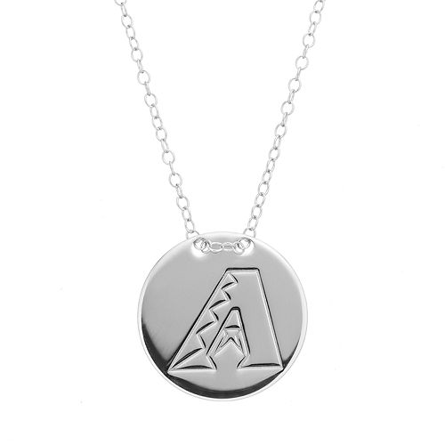 Arizona Diamondbacks Sterling Silver Disc Pendant Necklace