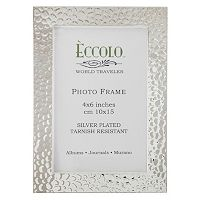 World Traveler Silverplate Box Hammered Frame