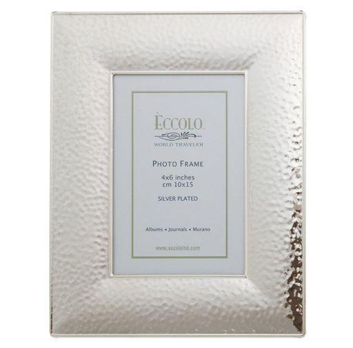World Traveler Silverplate Hammered Frame
