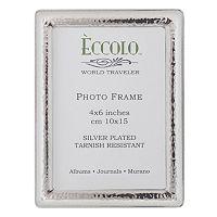 World Traveler Silverplate Narrow Hammered Frame