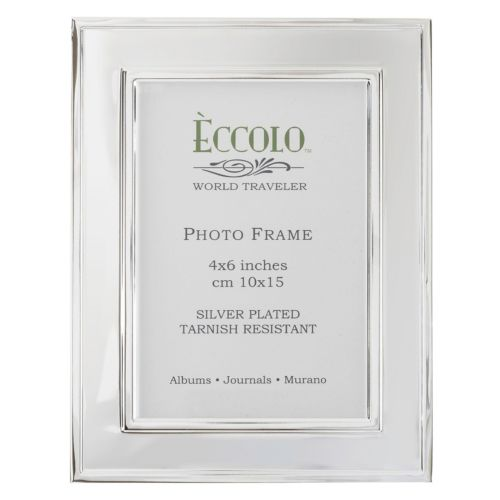 World Traveler Silverplate Raised Edge Wide Frame