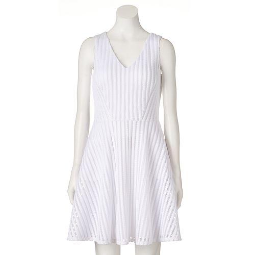 Women S Apt 9 174 Striped Fit Amp Flare Dress