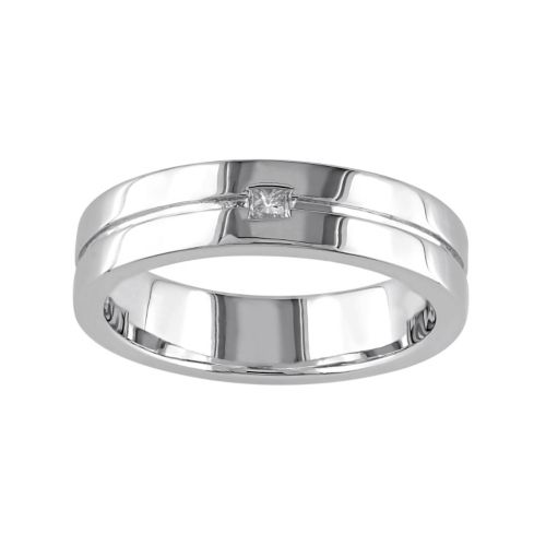 Sterling Silver Diamond Accent...