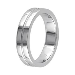 Sterling Silver Diamond Accent Wedding Ring