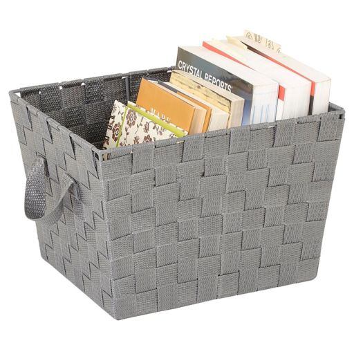 Kennedy Home Collection Woven Strap Storage Tote