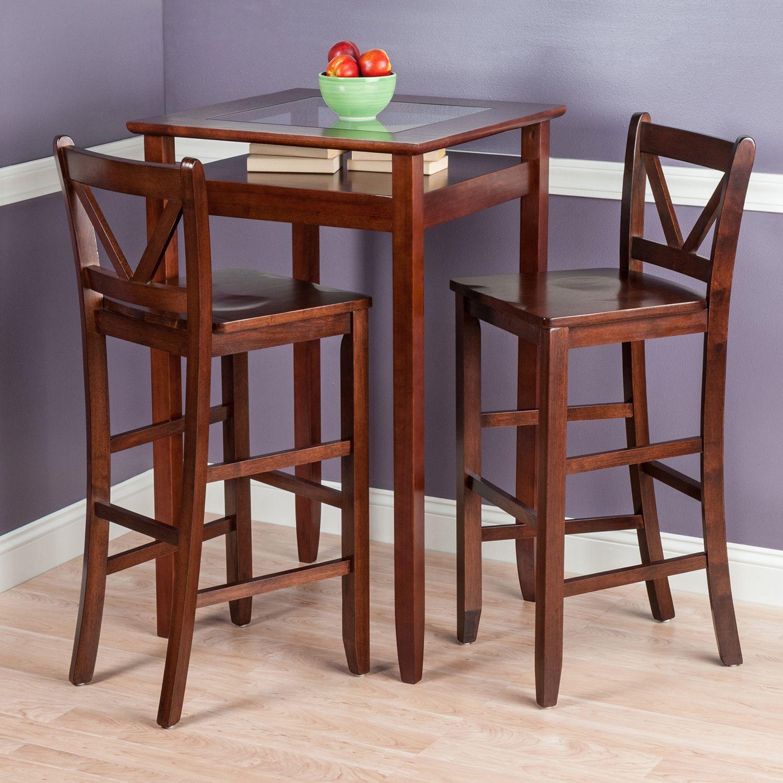 Winsome Halo 3 Piece Pub Table Set