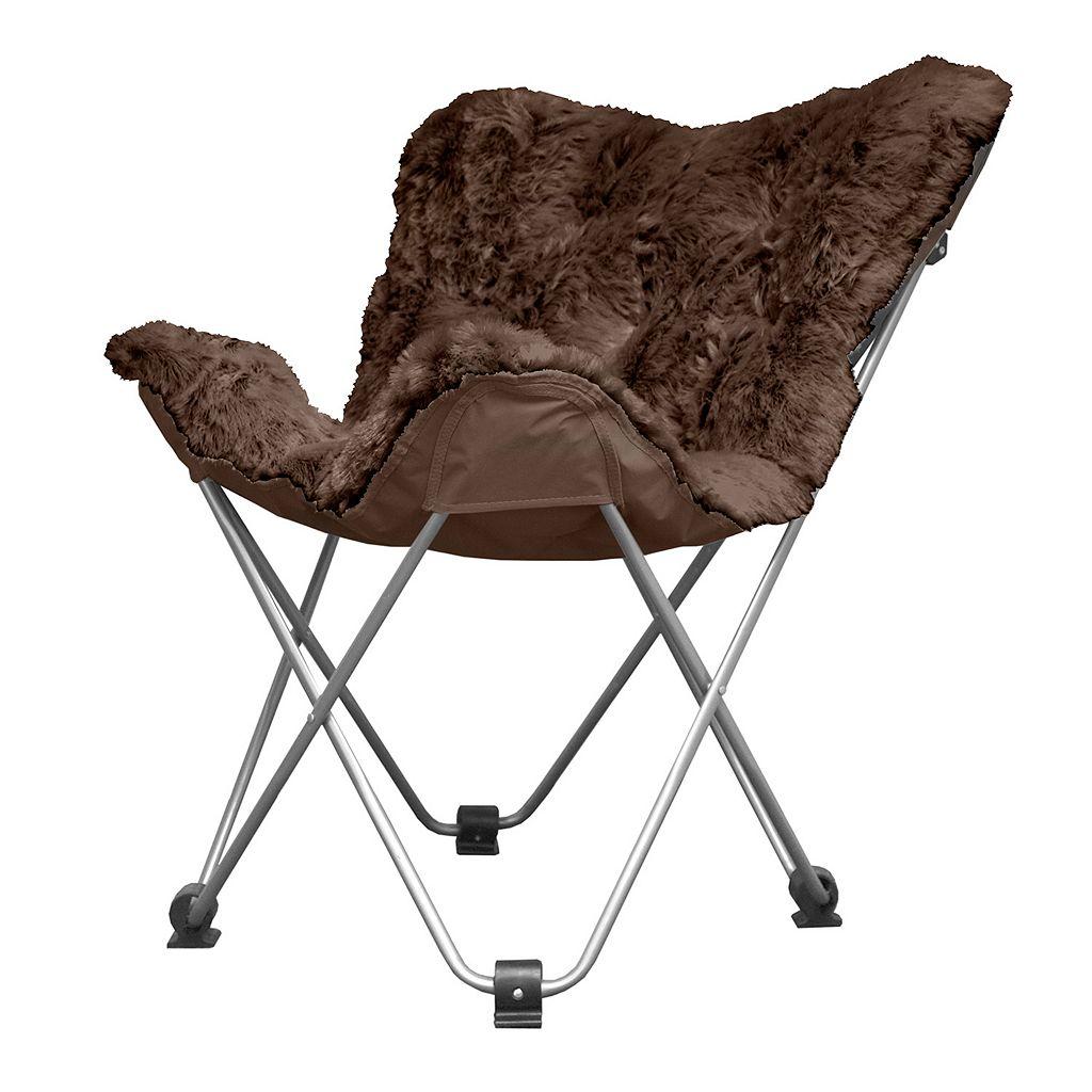 Urban Shop Plush Faux-Fur Butterfly Chair
